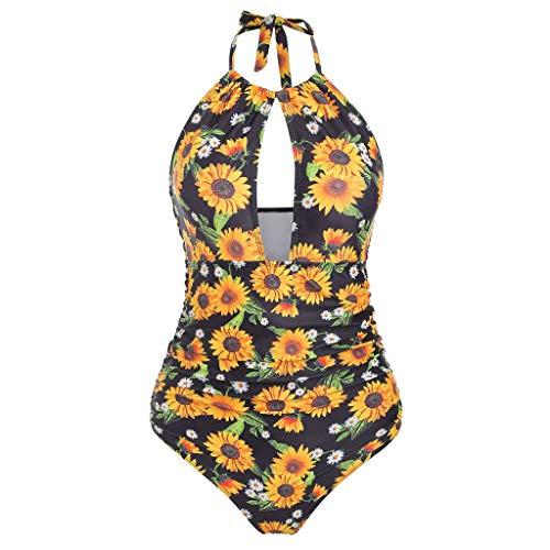 MAYOGO Traje de Baño Bikini Mujer 2019, Bikini Push-Up Mujer Sexy Bikinis Set Mujeres Los Girasoles...