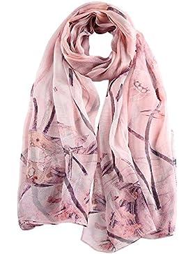 STORY OF SHANGHAI mujer bufanda cuadrada pañuelo de seda femenino de la gasa bufanda de la luz elegante