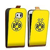 DeinDesign Samsung Galaxy S6 Edge Tasche braun Hülle Flip Case karamell BVB Borussia Dortmund Sterne
