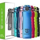 Trinkflasche, Degbit [BPA Frei Tritan] 1L/ 650ML Auslaufsicher Kunststoff Wasserflasche Trinkflaschen Sport, Flip Top Öffnet mit 1-Klick, Sportflasche Fahrrad Flasche für Kinder, Yoga, Camping Freien