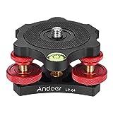 Andoer Tripod Leveling Base Leveler Aluminum Alloy with Bubble Level for Canon Nikon