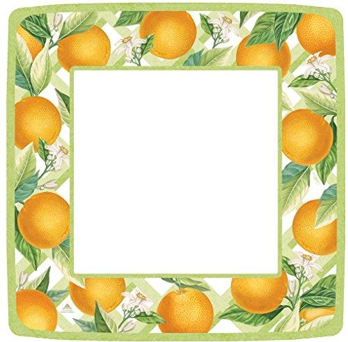 Caspari 12370DP 27 cm, Orangerie Square Dinner Plates, 8-er Pack Square Dinner Plate