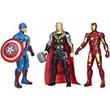 Avengers Toys Set - Captain America, Iron Man And Thor - Infinity War 3 Hero Collection (Multicolour)