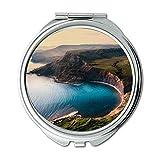 Yanteng Spiegel, Travel Mirror, Luftbild Strand schön, Taschenspiegel, tragbarer Spiegel
