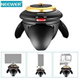 Neewer® 360° Rotation Panorama Eyeball Head with Remote Control Time Lapse Function for Smartphones, GoPro Xiaomi Yi SJCAM Action Cameras, Digital Cameras
