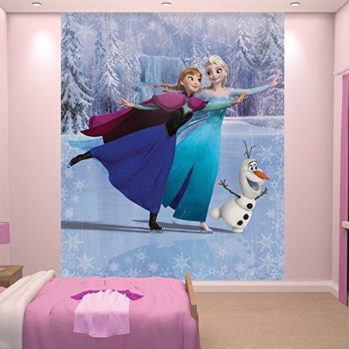Kindertapete - Wandtapete - Fototapete Frozen + Tapetenkleister - Kinder, Mädchen, Disney Tapete,