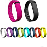 CikiShield 10Pcs Replacement Bands with Clasps for Fitbit Flex Only /No Tracker