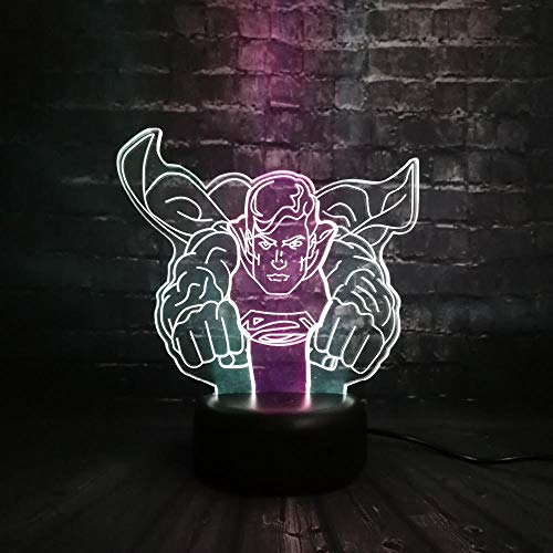 3d illusion lampe led nachtlicht mit 7 farben blinken & touch switch usb powered schlafzimmer schreibtischlampe für kinder geschenke dekoration