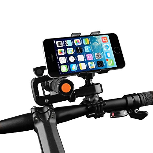 Fahrrad Handyhalter , JELEGAN Universal Fahrrad Motorrad Telefon Montieren Halter 360 Drehbar Unterstützung zum GPS Taschenlampe IOS Android Smartphones Andere Geräte IPhone Ect