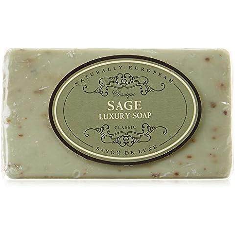 Sage lussuoso Wrapped Bar di sapone naturale 230g Naturalmente