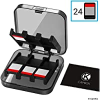 CamKix Game Case Compatible with Nintendo Switch - Fits up to 24 Nintendo Switch Games - Protective Storage System - Game Card Organizer - Travel Container Box - Hard Shell with 24 Slots