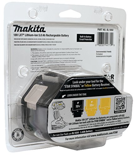Makita BL1850 18 V 5.0 Ah Li-ion LXT Battery Pack