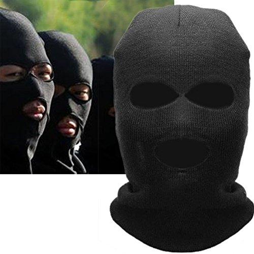 UxradG Full Face Maske-Simulation CS Spiele DREI Löcher Maske, Outdoor Ausreit Radfahren warm Drei Löcher Gap Nackenschutz Schal -
