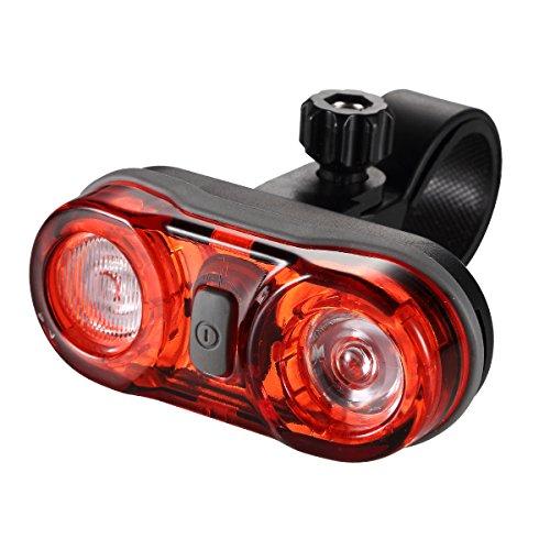 GreenClick LED Fahrradbeleuchtung Rücklicht Fahrrad 2*0.5w ultralhell rot LEDs,fahrradlampe Batteriebetrieb mit 2 AAA Batterien,PX4 wasserdicht LED Rückleuchten tragbar LED Fahrradlampe für sicher Fahrradfaren in der Nacht