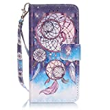 Felfy Samsung Galaxy S5 Hülle,Samsung S5 Neo Case, Flip Bookstyle Wallet Luxe Handyhülle Niedlich Farbe Muster mit Bling Diamant Strass Design PU Leather Stand Wallet Flip Lederhülle,Campanula