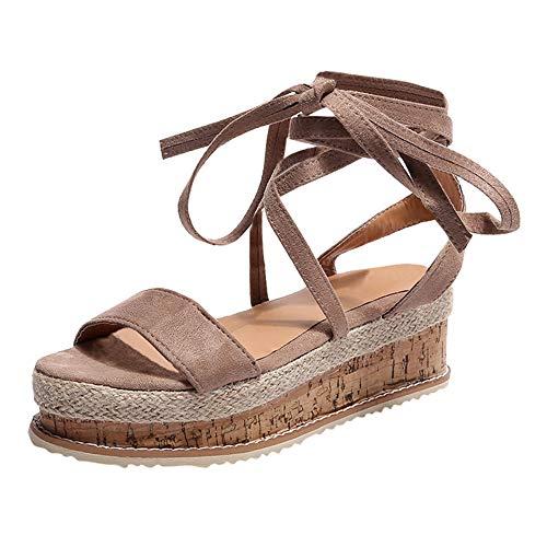 iHENGH 2019 Nuovo Scarpe Zeppa Fondo Spesso Donna Moda Casual Estivo Infradito Donna Flip Flop Sandali Piatti Beach Open Toe Shoes Fashion Spiaggia Summer