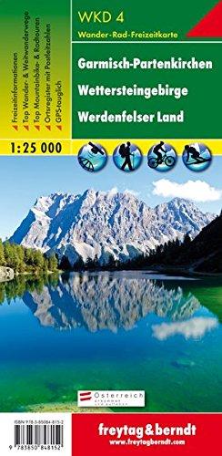 Freytag Berndt Wanderkarten, WKD 4 Garmisch-Partenkirchen - Wettersteingebirge - Werdenfelser Land - Maßstab 1:25.000