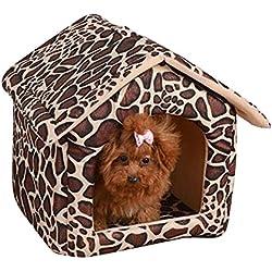 Caseta de Perro Simple Nido de Gato Extraíble Transportable Lavable Encantador y Cómodo Jaula para Perro Pequeño Tipo 1