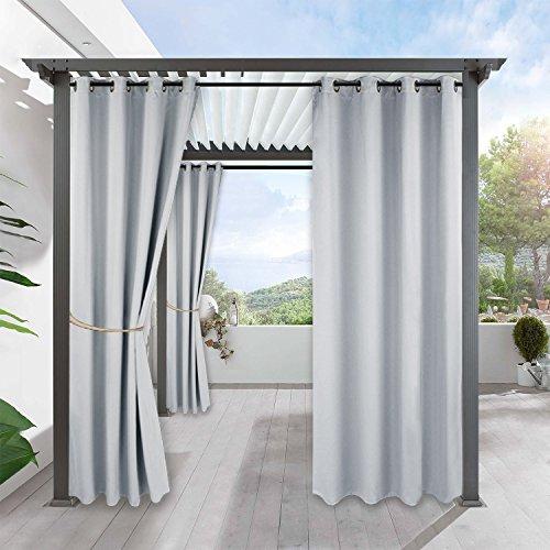 Draußen Gardine für Garten Sandstrand - RYB HOME 1 Stück Verdunkelungsgardine mit Ösen, 210 x...