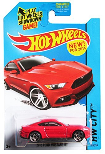 Hot wheels 2015 Ford Mustang GT RED new for 2014 hw city 100/250 by Hot Wheels