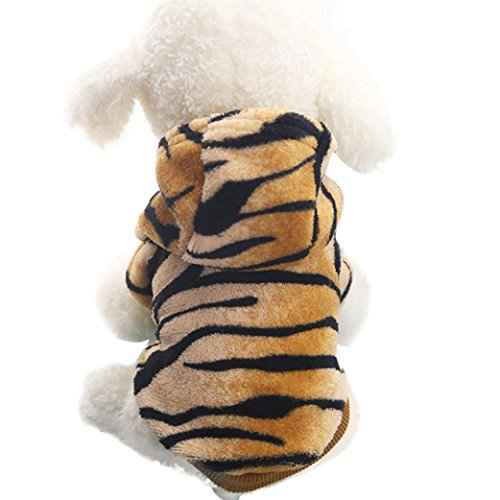 Haustier Hund Kleidung, LHWY Hoodies Mantel Welpen Hunde Katze Flanell Leopard Warme Kleidung Kostüm XS-2XL (M, - Pink Leopard Katze Kostüm