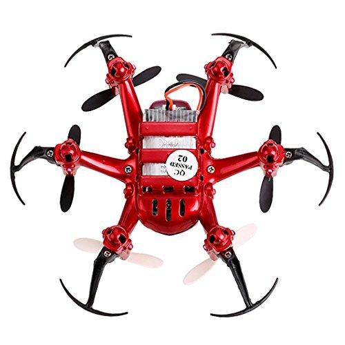 JJRC H20 RC Drone Quadrocopter 2.4GHz mit 4 Kanal, 6 Achsen Gyro, 3D-Flip,kopflos - modus (Rot) - 7