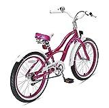 BIKESTAR Premium Sicherheits Kinderfahrrad 20 Zoll für Mädchen ab 6 - 7 Jahre ? 20er Kinderrad Cruiser ? Fahrrad für Kinder Violet Test