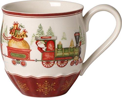 Villeroy & Boch Jahresbecher, 30 x 15 x 24 cm, rot/bunt, Fine Premium Porzellan