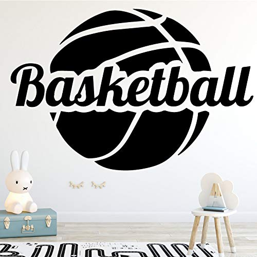 wukongsun Jungen Schlafzimmer Indoor-Stadion lustige Basketball Mode Kunst Wandaufkleber Dekoration schwarz XL 58cm X 38cm -