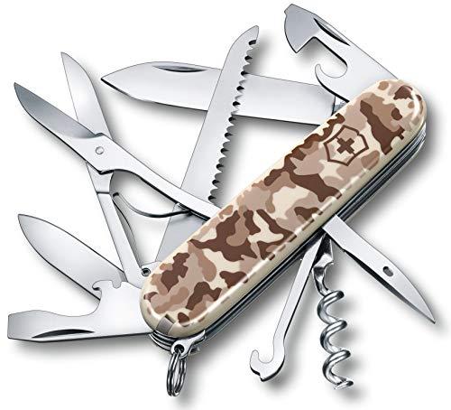 Victorinox V13713.941 Couteau d'Officier Huntsman Desert Mixte Adulte, Camouflage, 91 mm