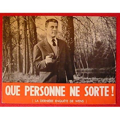 Dossier de presse de Que personne ne sorte (1964) – 23x31cm, 8 p - Film de Y Govar avec Philippe Nicaud, Jacqueline Maillan – Photos N&B + résumé scénario – Bon état.
