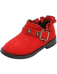 Botas Niña Invierno K-youth Zapatillas de Chica Rojas Zapatos Ocasionales de Niñas Patucos Martin Botines Zapatos Boda Niña Zapatos Niña Fiesta Bautizo