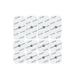all-snap 12Elektroden Snap, garantiert 100% Compex kompatible®–Hochleistungs und lange Lebensdauer (4Elektroden-50x 100mm single-snap und 8Elektroden von 50x 50mm)–Sparen Sie bis 60% Pro