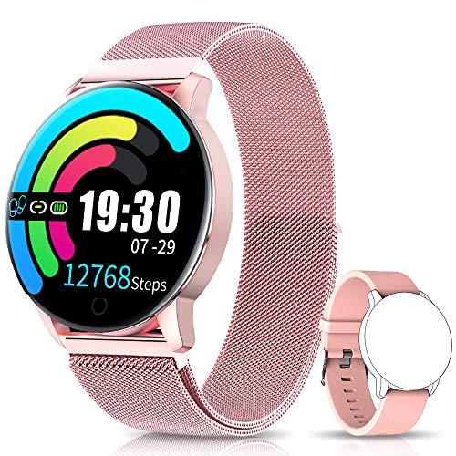 NAIXUES Smartwatch, Reloj Inteligente IP67 con Presión Arterial, 10 Modos de Deporte, Pulsómetro,...