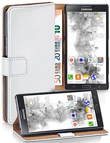 moex® Booklet mit Flip Funktion [360 Grad Voll-Schutz] für Samsung Galaxy Note 3 Neo | Geldfach und Kartenfach + Stand-Funktion und Magnet-Verschluss, Weiß - Note Wallet Galaxy 3 Leather Case