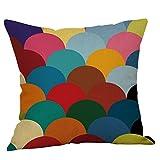 Logobeing Funda de Cojín Funda de Almohada de Mostaza Funda de Almohada de Otoño Geométrica Colorida Otoño Decorativo Casa Funda Cojines 45X45