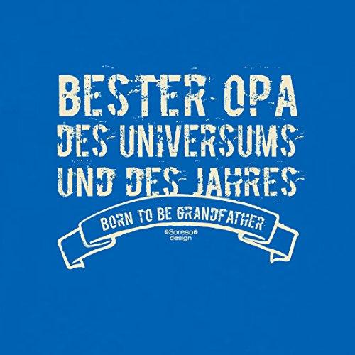 Geschenk-Set :: Bester Opa des Universums :: T-Shirt und Urkunde : Geschenkidee als Geburtstagsgeschenk Weihnachtsgeschenk Herren Geschenk - auch Übergrößen Farbe: royal-blau Royal-Blau
