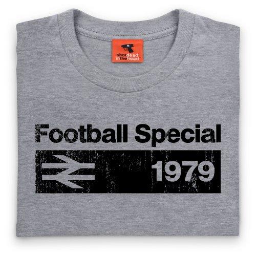 Football Special 1979 Vintage T-Shirt, Herren Grau Meliert