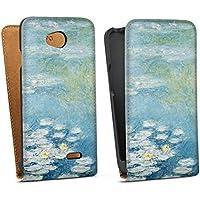 LG L70 Tasche Hülle Flip Case Seerosen Claude Monet Kunst