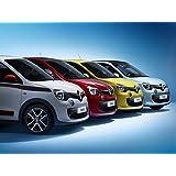 """Arte clásico y músculo anuncios de coche y COCHE Renault Twingo (2014) coche Póster en 10mil Archival satén blanco/rojo/amarillo parte delantera Studio View, papel, White/Red/Yellow Front Studio View, 36"""" x 24"""""""