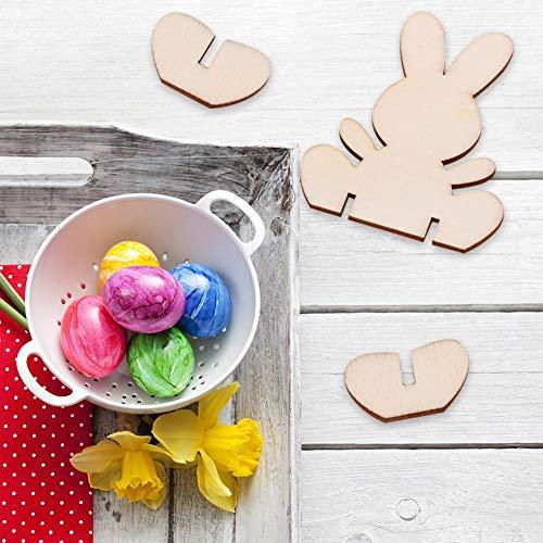 von Easter Bunny Piece Nette 3D DIY Kreative Holz Wohnkultur und Dekorative Papier geschnitten Handwerk Bunny Dekoration ()