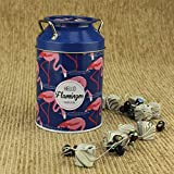 #3: AVMART Blue Flamingo Design Coin & Cash Piggy Bank Toy Gift for Kids with Unbreakable Metal Body (13 cm)