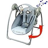 Balancelle musicale avec barre de jeux pour des bébés de moins de 9 kg