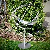 Gartentraum Elegante Sonnenuhr aus Edelstahl - Milenium-3 MS, Edelstahl