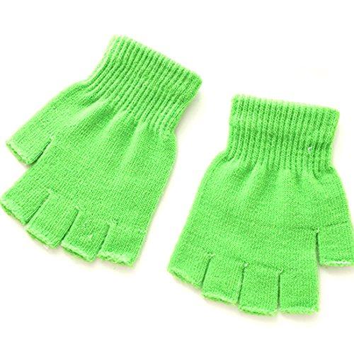 Noyokere Damen Strickhandschuhe Fäustlinge Thermische warme Winterhandschuhe Finger Fingerlose Zopfstrickhandschuhe
