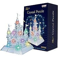 AISI 3d Crystal castillo bloques de alta desafío Puzzle Rompecabezas–3d Puzzle para niños de hasta 14, Light-Up Musical, 105pcs