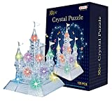 AiSi 3D Crystal Puzzle Jigsaw DIY Crystal Castle Blocks Office Desk Toy Light-Up Musical,105pcs