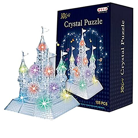 AiSi 3D Crystal Puzzle Jigsaw DIY Crystal Castle Blocks Office