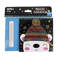 Apli kids 16524 Magic Scratch Art Set-Winter, Black