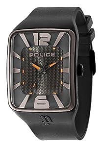Police PL.94741AEU/02P - Reloj de cuarzo para hombres con esfera negra y correa negra de silicona de Police